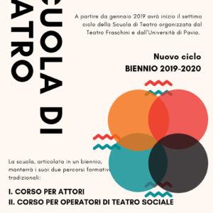 Bando di ammissione alle selezioni per la Scuola di Teatro – Biennio 2019-2020