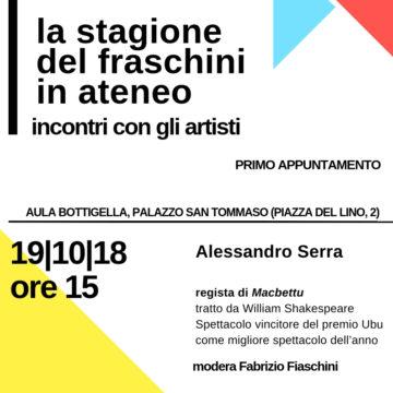 La stagione del Fraschini in Ateneo – Primo appuntamento 19/10/2018