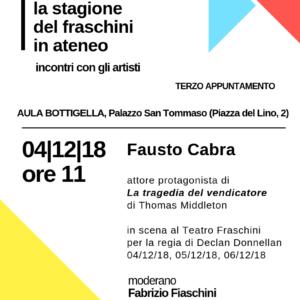 La stagione del Fraschini in Ateneo – Terzo appuntamento 04/12/2018
