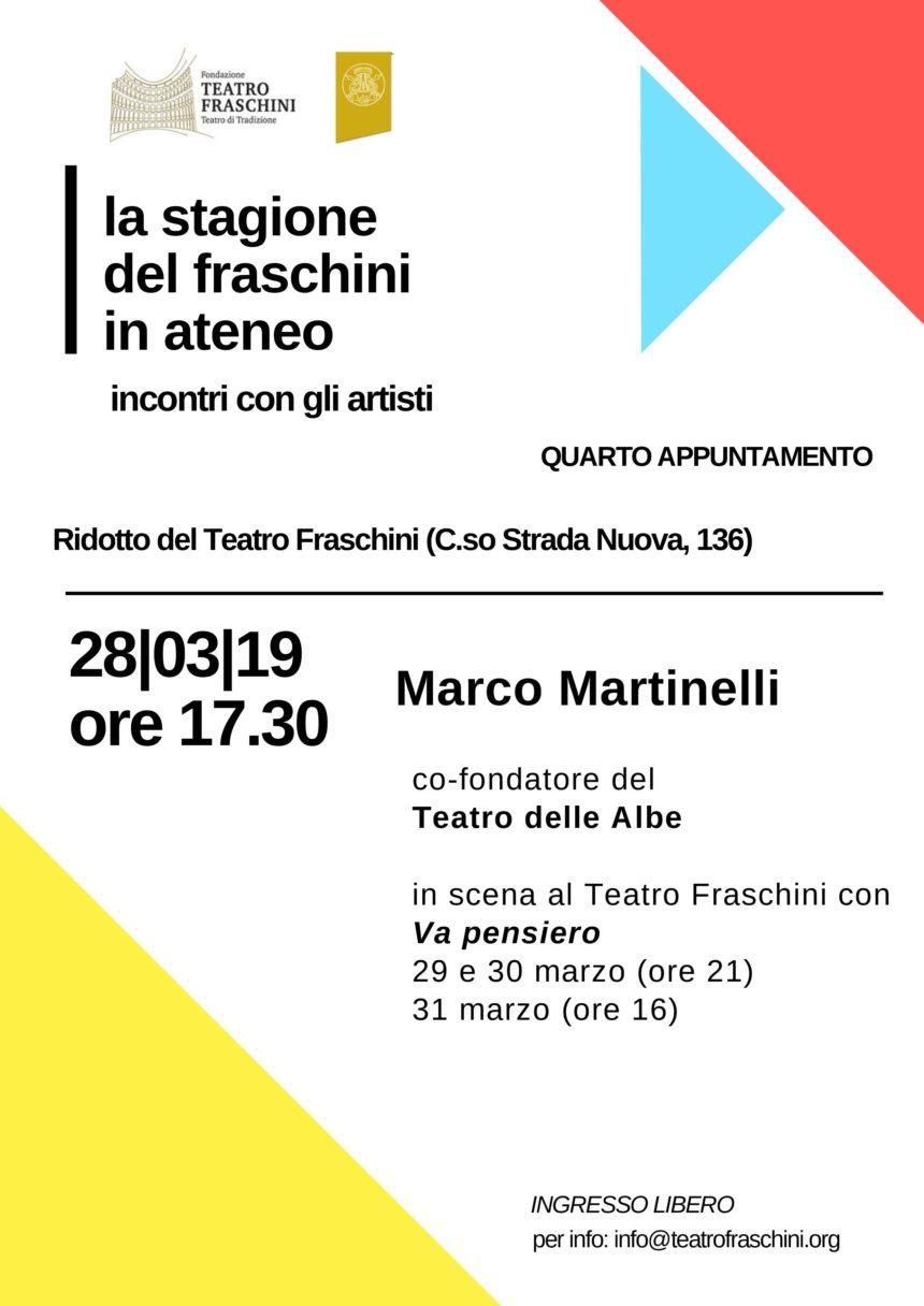 La stagione del Fraschini in Ateneo – Quarto appuntamento 28/03/2019