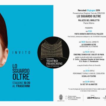 Presentazione STAGIONE TEATRALE 2019/2020 – Palazzo del Broletto – 19 giugno