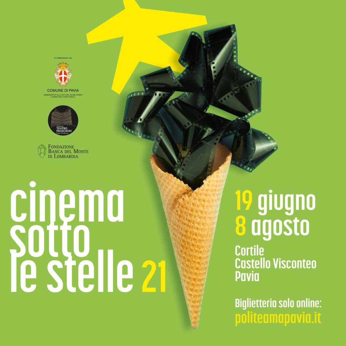 Cinema sotto le stelle. Dal 19 giugno al Castello Visconteo